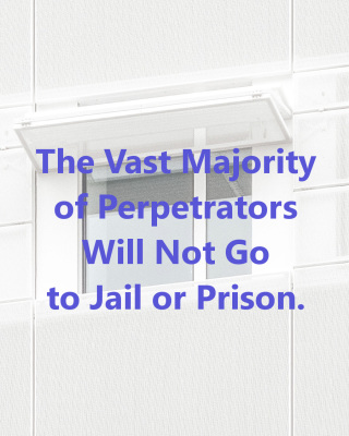 The Vast Majority of Perpetrators Will Not Go to Jail or Prison